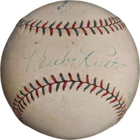 "80938: Circa 1927 ""Murderer's Row"" Signed Baseball with"