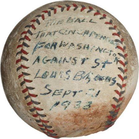 80940: 1933 Washington Senators Pennant-Clinching Last