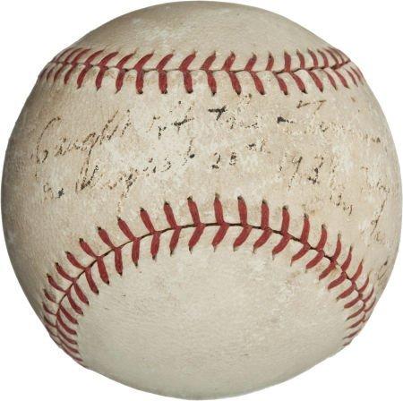 "80943: 1938 Record-Setting ""High Catch"" Baseball Droppe"