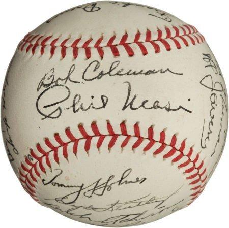 80946: 1944 Boston Braves Team Signed Baseball.