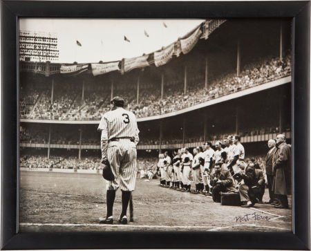 """81042: 1948 """"The Babe Bows Out"""" Original Photograph by"""