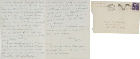 81043: 1949 Handwritten Letter Home from Mickey Mantle'