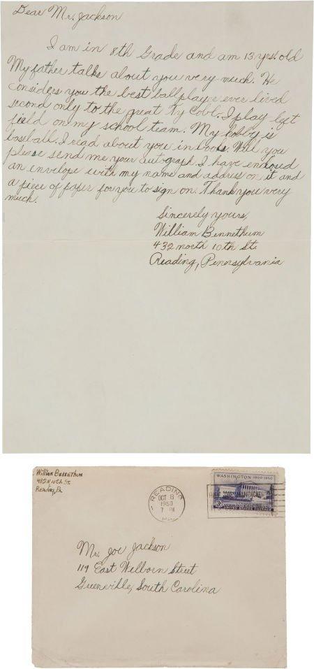 "81044: 1950 ""Shoeless Joe"" Jackson Signed Envelope--Two"