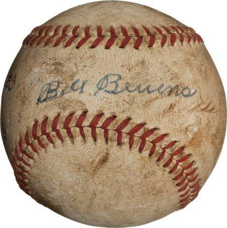 80950: 1947 World Series Game Four Last Baseball--Beven