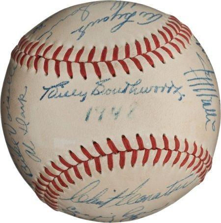 80951: 1948 Boston Braves Team Signed Baseball.