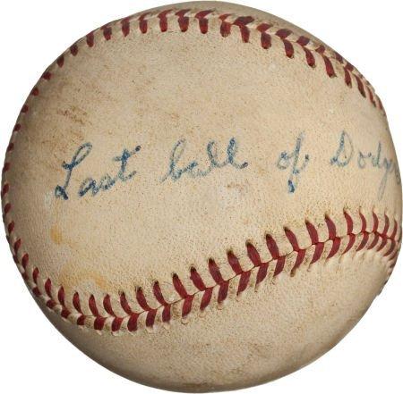 80956: 1955 Brooklyn Dodgers Last Baseball of the Regul