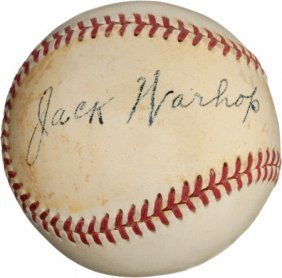 1950's Jack Warhop Single Signed Baseball--Babe