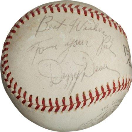 80958: 1950's Dizzy & Daffy Dean Dual-Signed Baseball.