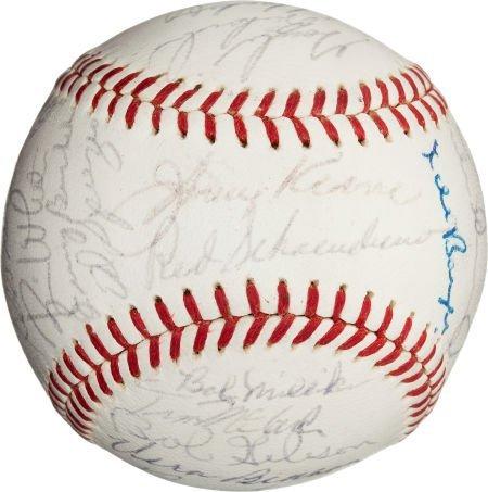 80962: 1964 St. Louis Cardinals Team Signed Baseball.