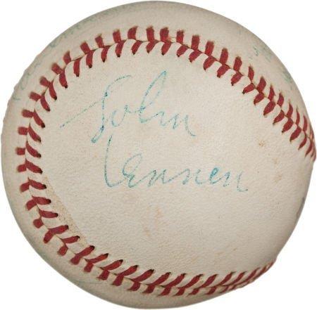 80963: 1965 The Beatles Signed Baseball from Shea Stadi