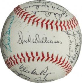 1967 Boston Red Sox Team Signed Baseball.