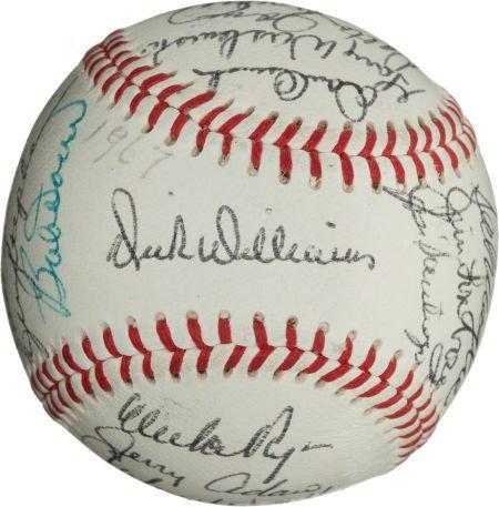 80964: 1967 Boston Red Sox Team Signed Baseball.