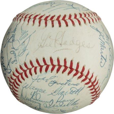 80965: 1969 New York Mets Team Signed Baseball.