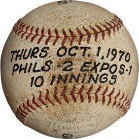 1970 Last Baseball Used At Connie Mack Stadium (