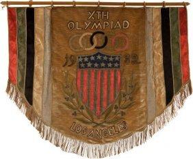 1932 Los Angeles Olympics Banner.