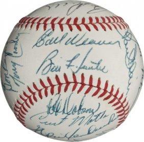 1971 Baltimore Orioles Team Signed Baseball.