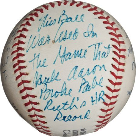80973: 1974 Baseball Used in Hank Aaron's 715th Home Ru