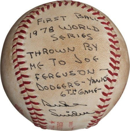 80977: 1978 World Series Game Six First Pitch Baseball