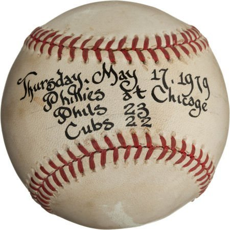 80978: 1979 Philadelphia Phillies Beat Chicago Cubs 23-