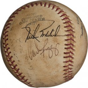 1981 Last Ball Of Professional Baseball's Longes