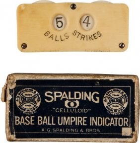 1887 Spalding Umpire's Counter With 5 Balls, 4 S