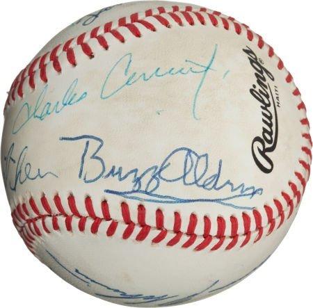 80982: 1980's Moon Mission Astronauts Signed Baseball--