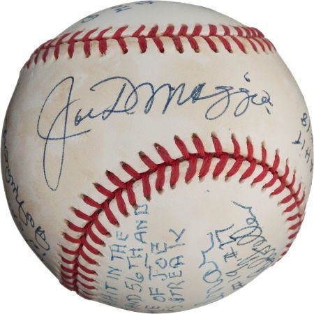 80984: 1980's Joe DiMaggio and Pitchers Who Gave Up Hit