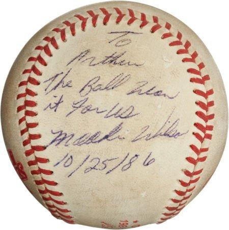 "80987: The Famous ""Buckner Ball"" from the 1986 World Se"