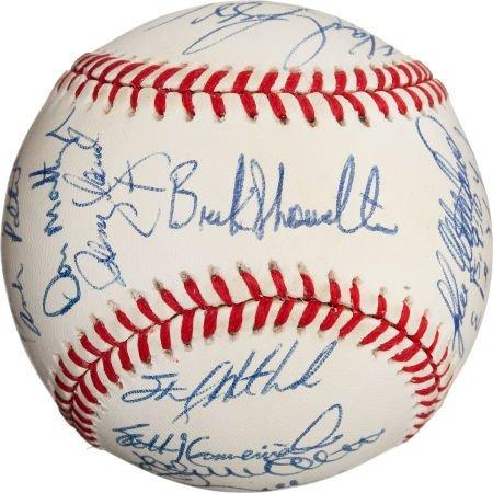 80995: 1995 New York Yankees Team Signed Baseball Sent