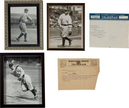 81002: Circa 1920 Ray Chapman Original Photographs, Tel