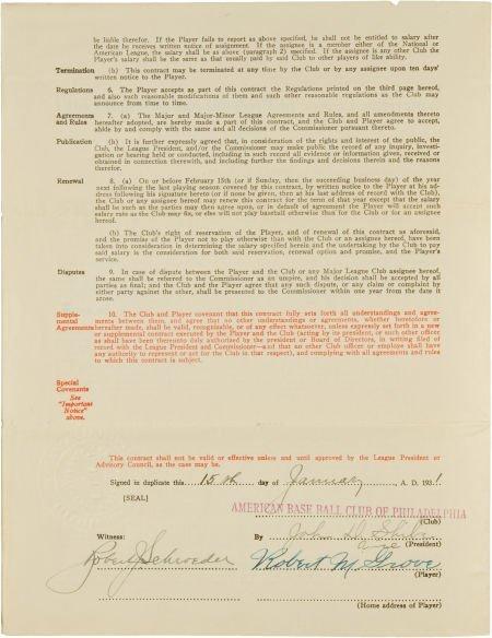 "81023: 1931 Robert ""Lefty"" Grove Signed Uniform Player'"