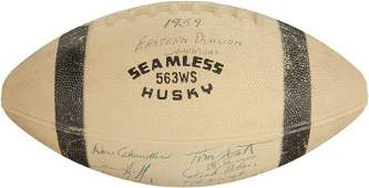 81605: 1959 New York Giants Team Signed Football - East