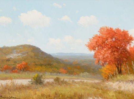 76037: PORFIRIO SALINAS (American, 1910-1973) Fall Land