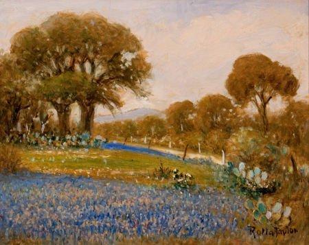 76019: ROLLA TAYLOR (American, 1871-1970) Landscape wit