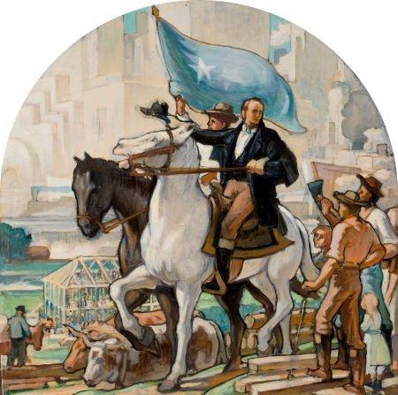 76055: JOHN MCQUARRIE (American, 20th Century) Mural st