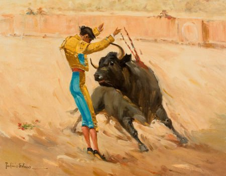 76038: PORFIRIO SALINAS (American, 1910-1973) Matador O