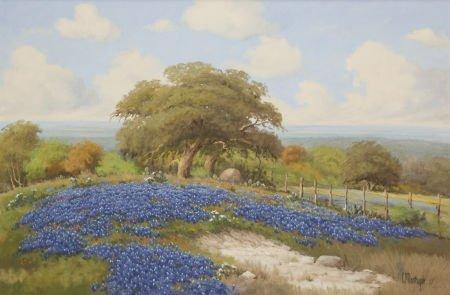 76021: C. P. MONTAGUE (American, 20th Century) Bluebonn