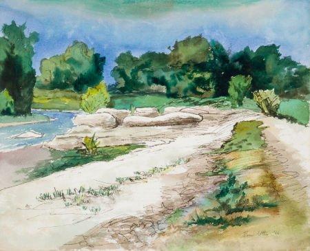 76040: BROR ALEXANDER UTTER (American, 1913-1993) River