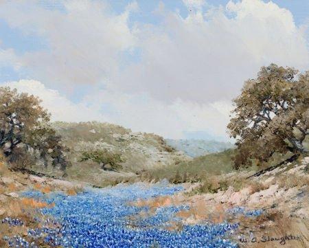 76012: WILLIAM A. SLAUGHTER (American, 1923-2003) Blueb