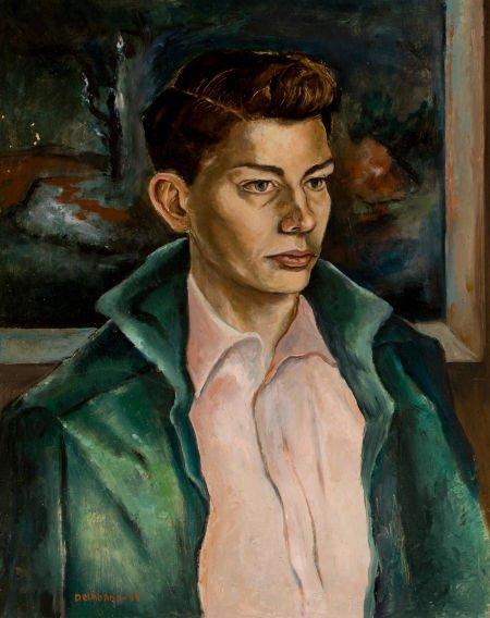 76032: BARNEY DELABANO (American, 1926-1997) Portrait o