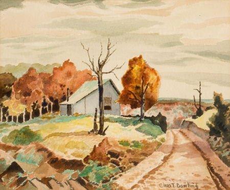 76014: CHARLES TAYLOR BOWLING (American, 1891-1985) Lan