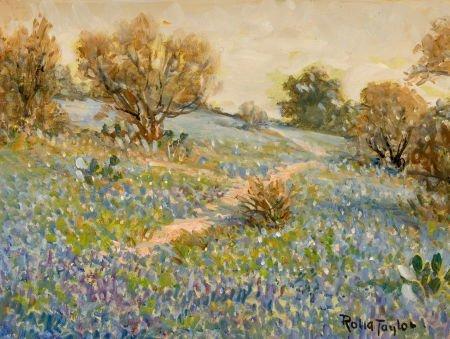 76018: ROLLA TAYLOR (American, 1871-1970) Bluebonnets,