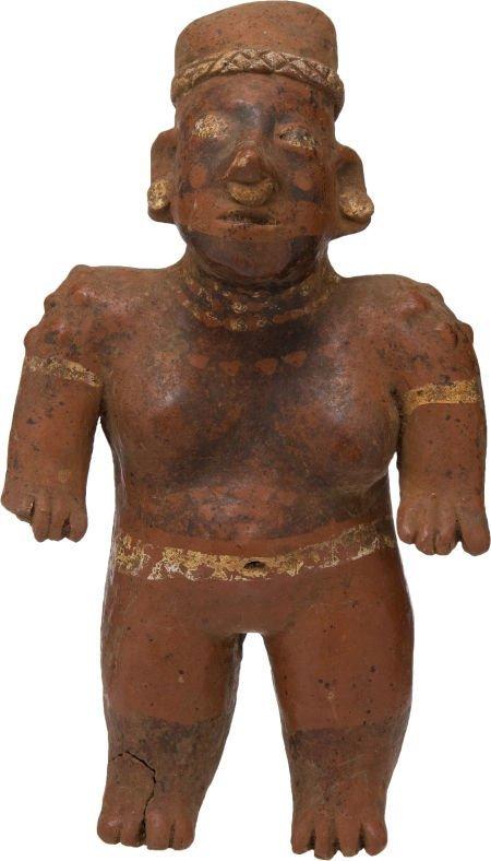 50001: Pre-Columbian Jalisco Standing Female Figurine.