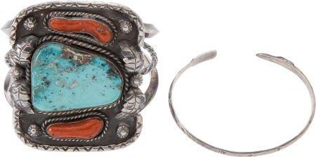 50102: Lot of Two Native American Bracelets.