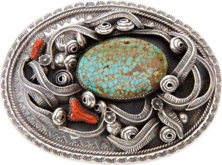 50103: Signed Navajo or Zuni Belt Buckle.