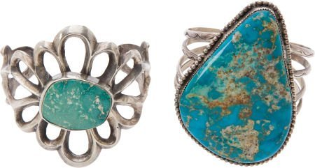 50106: Lot of Two Turquoise Bracelets.