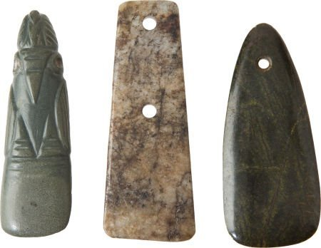 50019: Lot of Three Pre-Columbian Stone Tools.