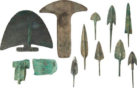 50024: Lot of 11 Assorted Luristani Bronze Age Points a