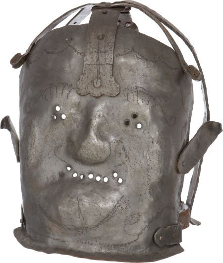 50047: Reproduction 17th-Century Insanity Mask.