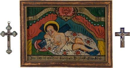 50048: Lot of Three Antique Religious Icons.